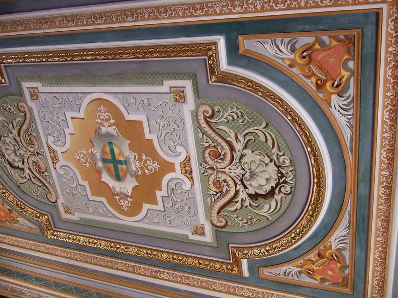 Ceiling detail at Chateau de Cheverny