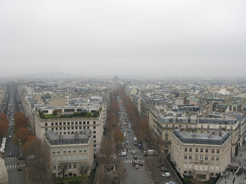 Avenue de Friedland from the top of the Arc de Triomphe
