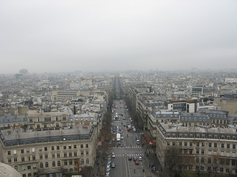 Avenue Wagram from the top of the Arc de Triomphe