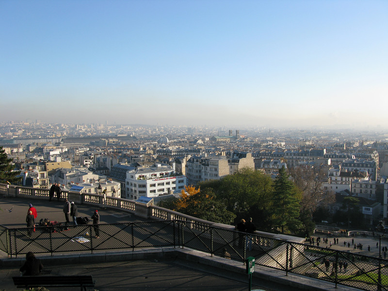 Paris from the top of Montmarte