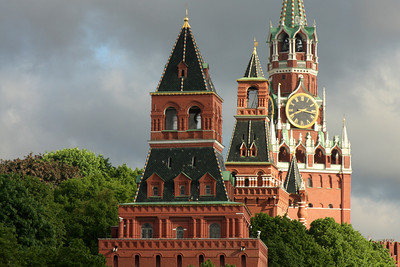Some the towers of the Kremlin - Moscow, Russia ... May 25, 2009 ... Photo by Rob Page III