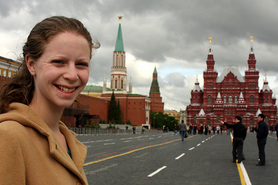 Emily and Red Square - Moscow, Russia ... May 25, 2009 ... Photo by Rob Page III
