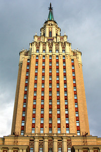 One of Stalin's Seven Skyscrapers.  It is now a Hilton Hotel  known as the Leningradskaya - Moscow, Russia ... May 25, 2009 ... Photo by Rob Page III
