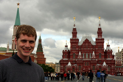 Rob and Red Square - Moscow, Russia ... May 25, 2009 ... Photo by Emily Page
