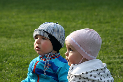 Babies watch the performance in Mikhailovsky Gardens - Saint Petersburg, Russia ... May 27, 2009 ... Photo by Emily Page