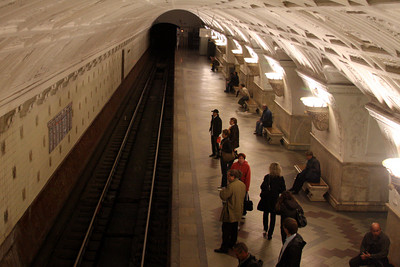 Inside the Moscow Metro System - Moscow, Russia ... May 25, 2009 ... Photo by Rob Page III