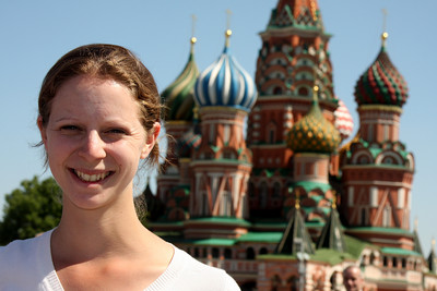 Emily and St. Basil's Cathedral - Moscow, Russia ... May 30, 2009 ... Photo by Rob Page III