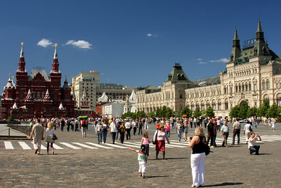 Red Square.  The square separates the Kremlin, the former royal citadel and currently the official residence of the President of Russia, from a historic merchant quarter known as Kitay-gorod - Moscow, Russia ... May 30, 2009 ... Photo by Rob Page III