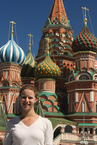 Emily and Saint Basil's Cathedral - Moscow, Russia ... May 30, 2009 ... Photo by Rob Page III