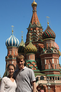 Rob and Emily in front of Saint Basil's Cathedral - Moscow, Russia ... May 30, 2009 ... Photo by Unknown