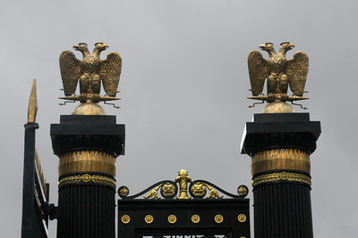 The tsarist double-headed eagle on top of the fences near the Kremlin - Moscow, Russia ... May 24, 2009 ... Photo by Rob Page III