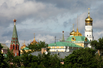 The Kremlin from the Cathedral of Christ the Saviour - Moscow, Russia ... May 24, 2009 ... Photo by Rob Page III