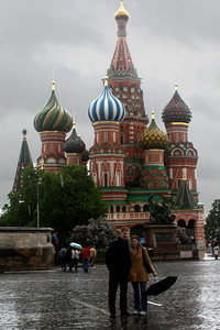 Rob and Emily in front of St. Basil's Cathedral - Moscow, Russia ... May 24, 2009 ... Photo by Borovoy Maxim