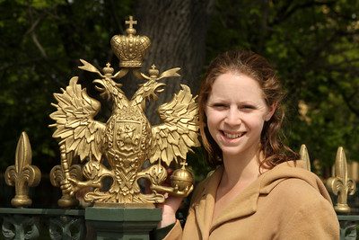 Emily and the tsar's double headed eagle - Saint Petersburg, Russia ... May 26, 2009 ... Photo by Rob Page III