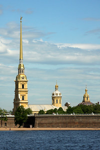 The Peter and Paul Fortress across the Neva River from the Winter Palace - Saint Petersburg, Russia ... May 26, 2009 ... Photo by Rob Page III