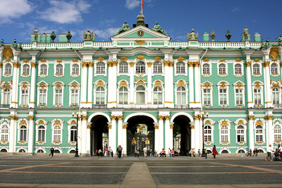 The Winter Palace.  It currently houses the Hermitage Museum, but was Russia's Imperial Palace from the 1700's to the early 1900's - Saint Petersburg, Russia ... May 26, 2009 ... Photo by Rob Page III