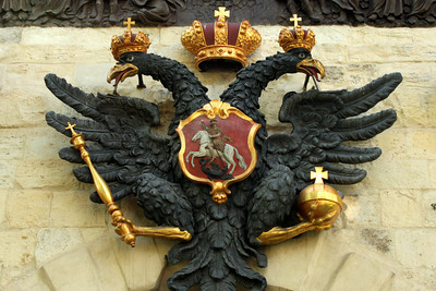 The tsar's double-headed eagle at the entrance of the Peter and Paul Fortress - Saint Petersburg, Russia ... May 26, 2009 ... Photo by Rob Page III