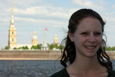 Emily in front of the Peter and Paul Fortress - Saint Petersburg, Russia ... May 26, 2009 ... Photo by Rob Page III