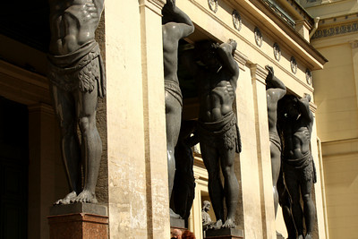 Strong men holding up the building - Saint Petersburg, Russia ... May 26, 2009 ... Photo by Rob Page III
