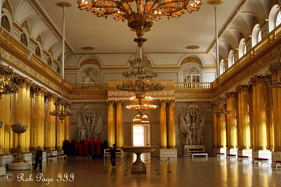 In the Armorial Hall in the Hermitage - Saint Petersburg, Russia ... May 27, 2009 ... Photo by Rob Page III