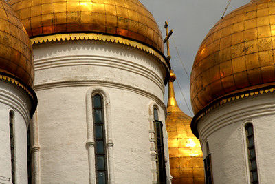 Uspensky Cathedral inside the Kremlin walls - Moscow, Russia ... May 25, 2009 ... Photo by Rob Page III