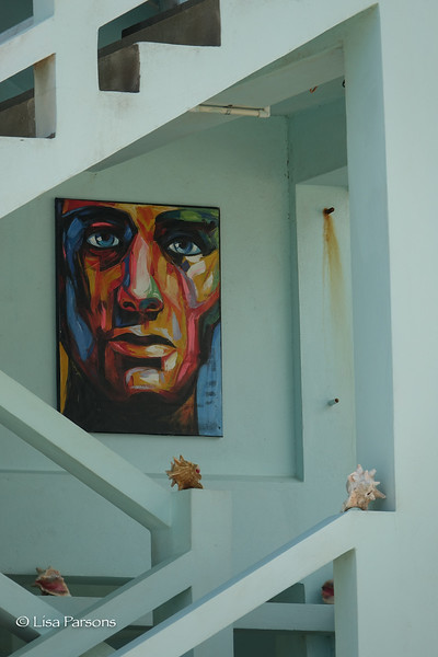 Painting in a House Stairway
