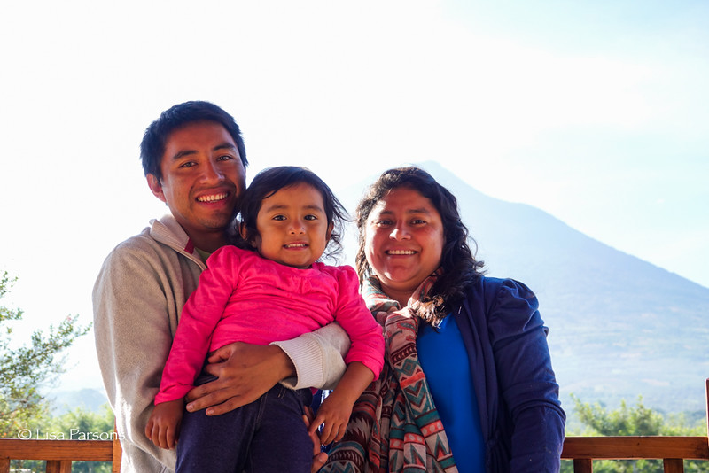 Oscar, Earthcorps Alum, with his Wife and Daughter