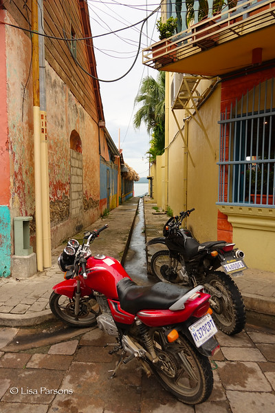 Side Alley and Motorcycles