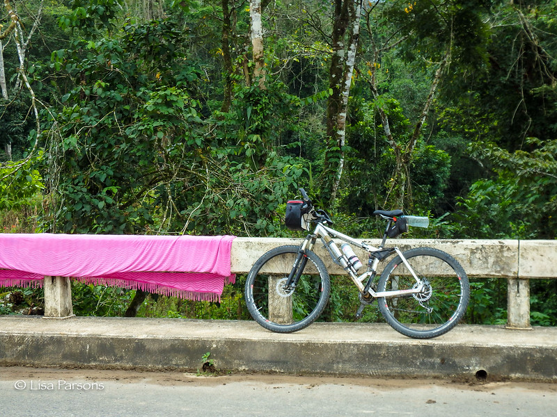 My Bicycle and Drying Laundry