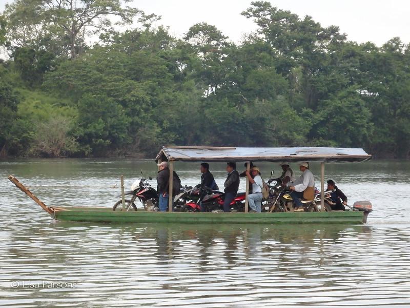 Moto Ferry on the Río La Pasión River
