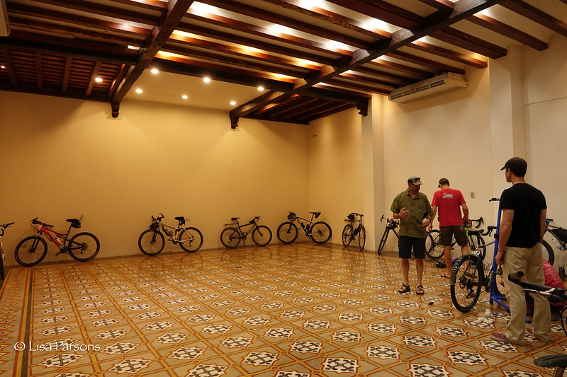 Our Bicycles in the Hotel Conference Room