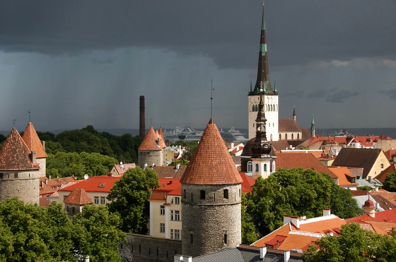 Old Town - Talin, Estonia (from Patkuli Viewpoint)