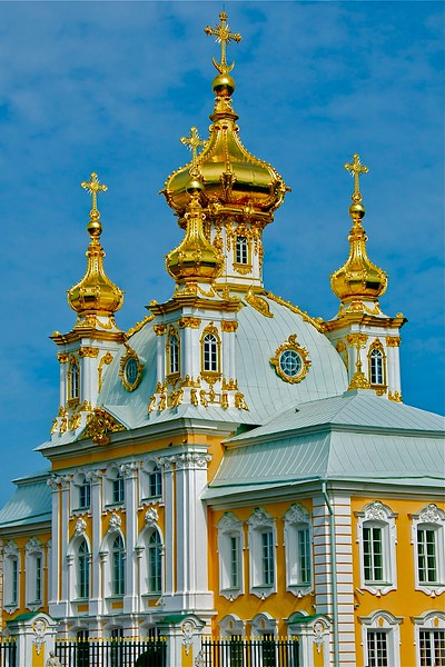 Church of Grand Palace Peterhof St. Petersburg, Russia