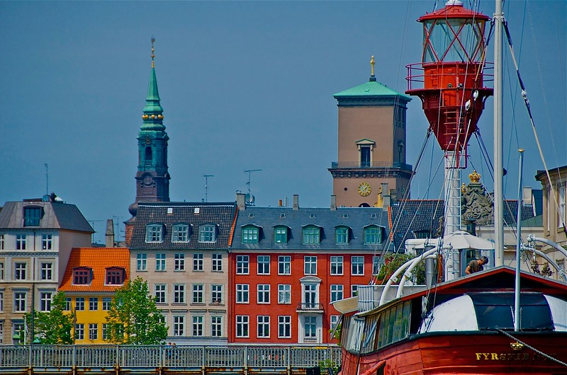 Copenhagen Light Ship and Skyline