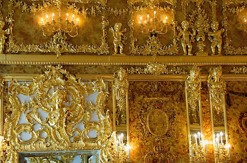 The Amber Room, Catherine's Palace - Pushkin, Russia