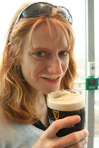 Michele with her Guiness mustache