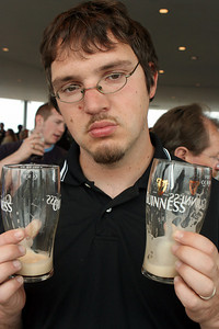 Dave sad the Guiness is gone