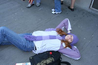 Michele resting after visitng the Uffizi