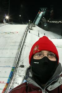 Dave at the Ski Jump
