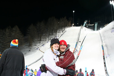 Our Wisconsin friends were nice enough to take a picture of us at the Ski Jumping Competition.