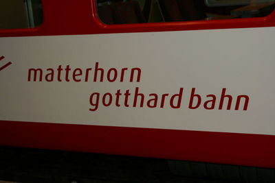 The Matterhorn Gotthard bahn train