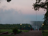 Last light of evening at the Victoria Falls Hotel