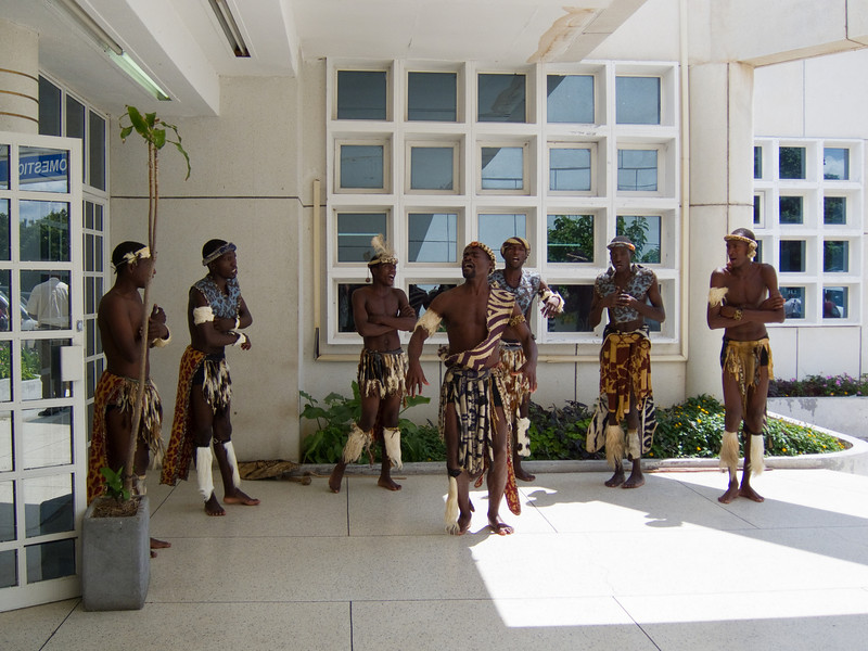 Welcoming Committee at the Victoria Falls Airport
