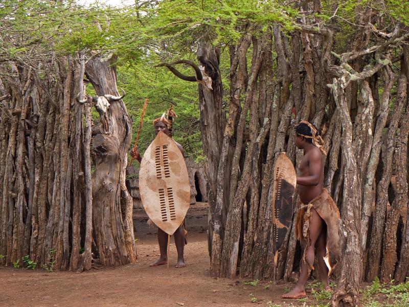 Entering the Zulu Village