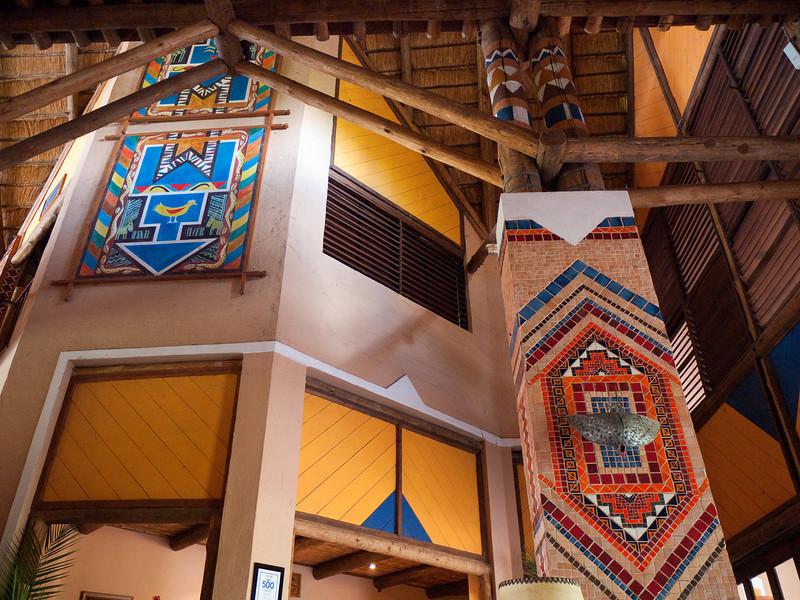 Inside the Victoria Falls Safari Lodge