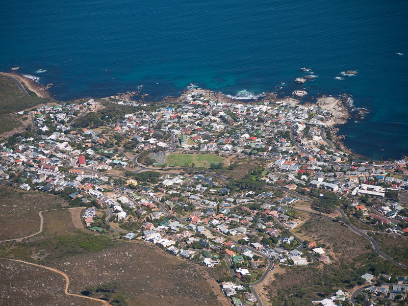 Cape Town Aerial View from Table Mountain - Sea Point Area