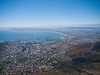 Cape Town Aerial View from Table Mountain