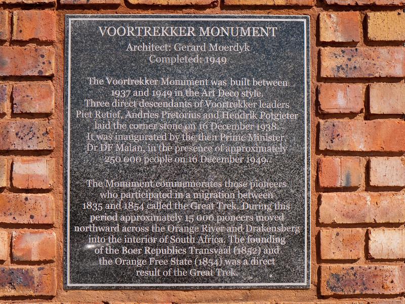 Voortrekker Monument - Pretoria, South Africa 1949