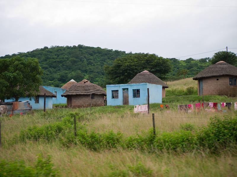 Living Quarters Outside the Hluhluwe Umfolozi Game Reserve - Zululand