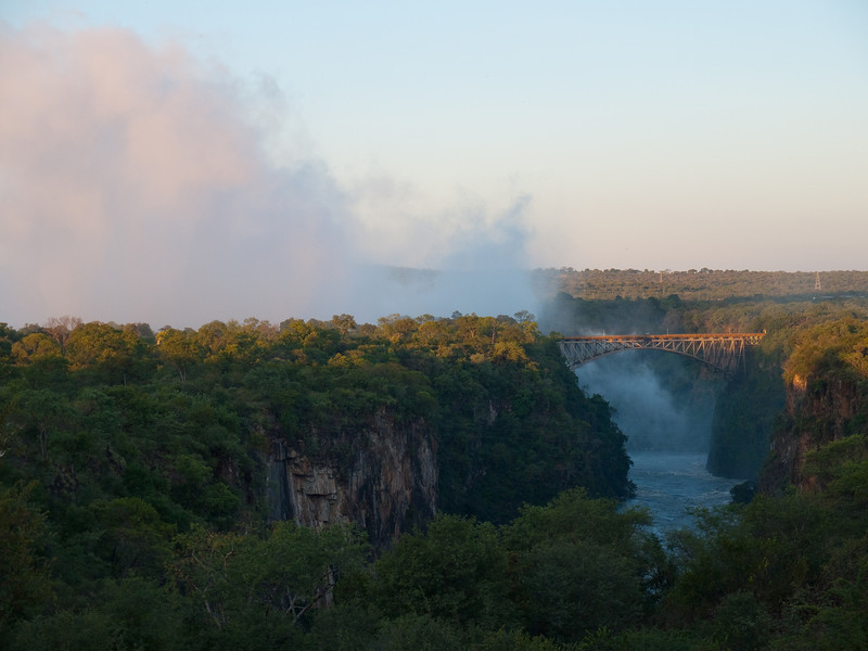 Victoria Falls from the Victoria Falls Hotel